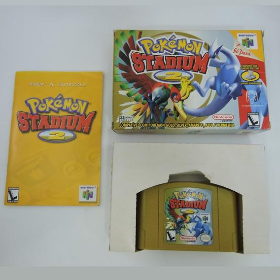 Pokémon Stadium 2 Original Completo Gradiente Nintendo 64