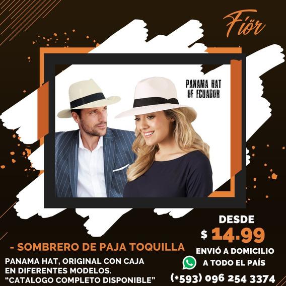 Sombrero Paja Toquilla Fedora Panama Hat Paypal Original