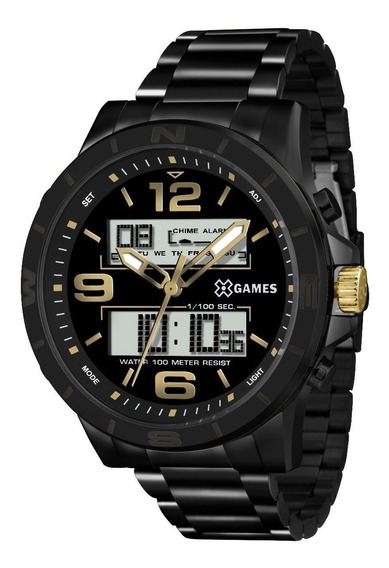 Relógio X-games Masculino Anadigi Preto Xmnsa001 P2px