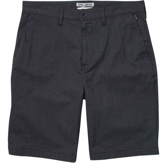 Bermuda Walkshort Billabong Carter Stretch Mid Black Heather