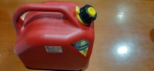 Imagen 1 de 3 de Bidón De Combustible Rojo De 10 Litros Con Pico