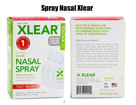 Paquete 3 Xlear Spray Nasal Xylitol Xtrm P