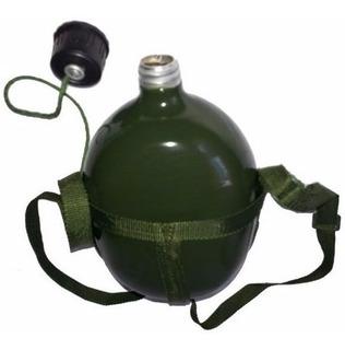 Cantil Alumínio Verde Militar Com Alça De Ombro 875ml