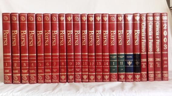 Coleção Nova Enciclopédia Barsa + Livro Do Ano - 22 Volumes