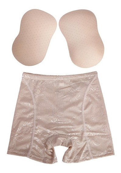 Panty Push Up Rellenos Cojines Aumento Pompis Cadera