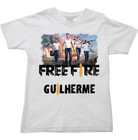 Camiseta Free Fire Infantil Com Nome A Sua Escolha