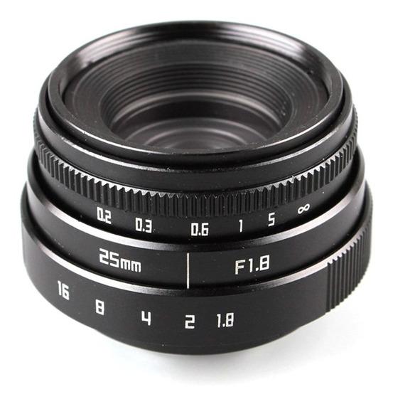 Lente Sony Alpha 25mm F1.8 + Lente 50mm F1.4