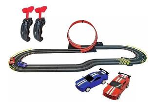 Pista Electrica Autos Loop Racing Vuelta 360 Control Remoto