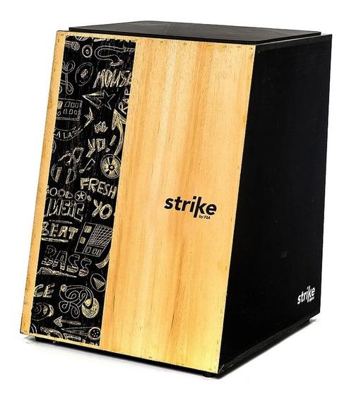 Cajon Fsa Strike Caixa Percussão Compacta Acústica Cores