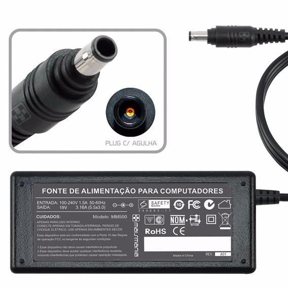Onte P/ Notebook 19v 3.16a Plug. 5.5×3.0mm (500)