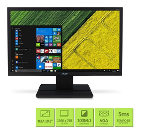 Monitor Acer V206hql 19,5 Hd 1366x768 60hz 5ms