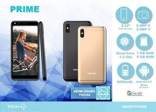 Celular Tech 4u Prime Doble Sim 8gb+1gbram Desbloqueo Facia