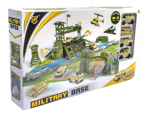 Base Fuerte Militar Guerra Juego De Niño Avion,tanque,armas