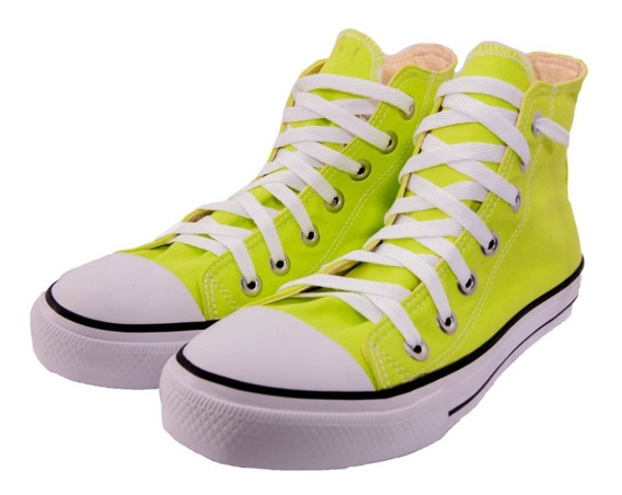Tênis All Star Chuck Taylor Ox As Hi Cano Alto Verde Neon