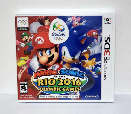 Jogo Mario & Sonic At The Rio 2016 Olympic Games - 3ds Novo