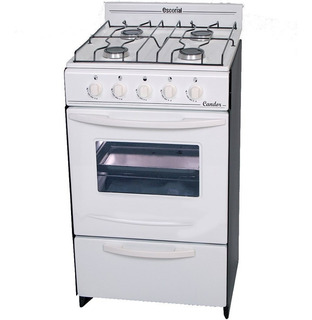 Cocina Escorial Candor Blanca 4 Hornallas Visor Y Parilla