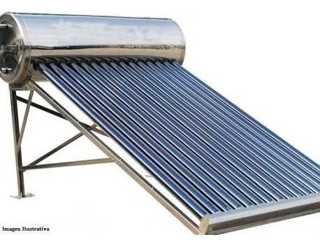 Calentador Solar 12 Tubos Acero Inoxidable