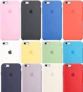 Funda Silicon Case Apple iPhone 6 Plus X/xs O Xsmax + Mica