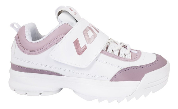 Tenis Casual Mujer Lotto Blanco/lila