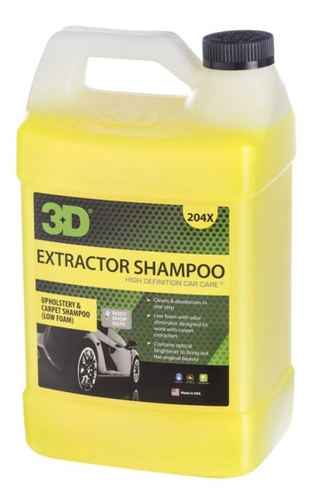 Shampoo Para Máquinas Limpia Tapizados 4lts / 3d Detailiing
