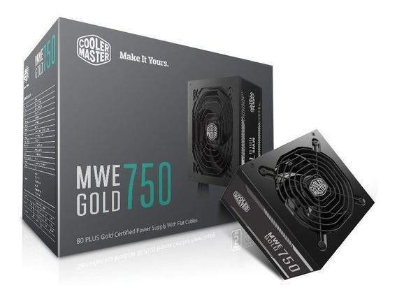 Fonte Cooler Master Mwe 750w 80 Plus Gold Mpy-7501-acaag-wo
