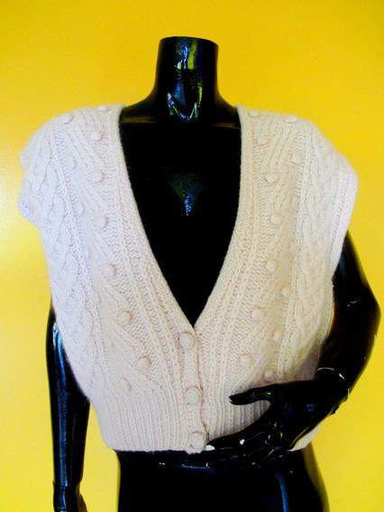Sweater Rosa Palido Con Diseños M