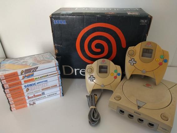 Console Dreamcast Sega Com Jogos