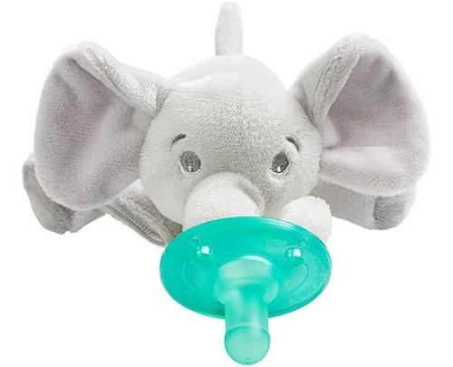 Imagen 1 de 6 de Avent Sujeta Chupón Peluche P/ Recién Nacido Elefante Apego