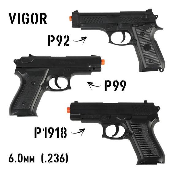 Kit 03 Airsoft Spring Rossi Vigor Pistolas P92 + P99 + P1918