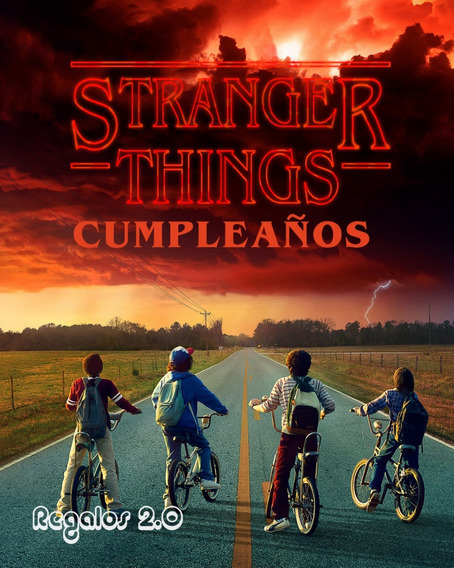 Tarjeta Video Invitacion Cumpleaños-stranger Things