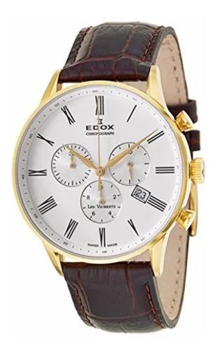 Reloj Edox Les Vauberts Chronograph 10408 Original Nuevo