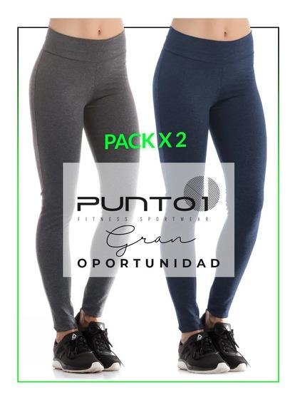 Pack X 2 Calza Legging Supplex Mujer Punto1oficial