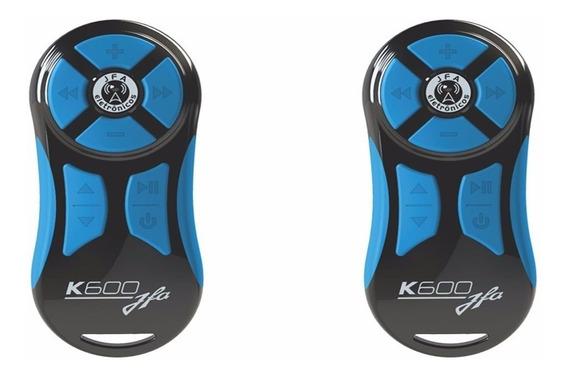Kit Com 2 Controles Longa Distancia Jfa Preto Com Azul K600