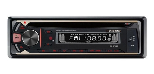 Som automotivo Roadstar RS-3750 com USB, bluetooth e leitor de cartão SD