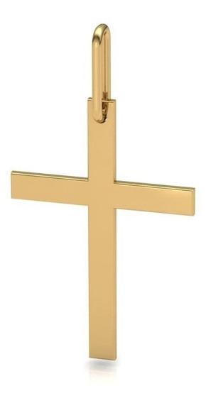 Pingente Cruz Masculino / Feminino Crucifixo Em Ouro 18k 75