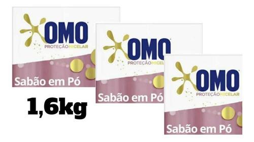 Omo Detergente Proteção Micelar  Em Pó Kit Com 3De 1,6kg