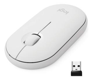 Mouse Conectividad Doble Logitech Pebble M350 - Blanco