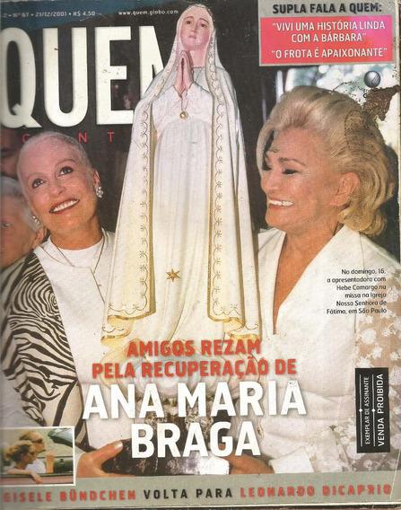 Revista Quem 67/2001 - Xuxa/angélica/hebe/dicaprio