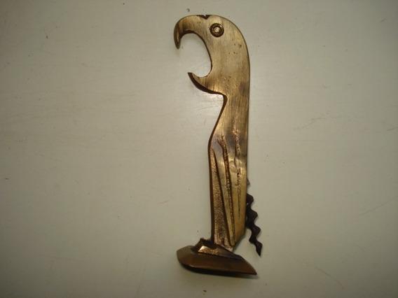 Saca-rolhas Antigo De Bronze Papagaio