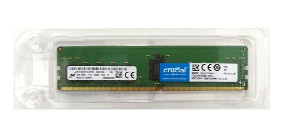 Memória 16gb (2x 8gb) Crucial Ddr4-2666 Ecc Rdimm R440 R640