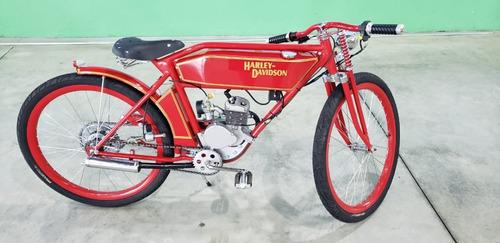 Imagem 1 de 8 de Replica Harley Davidson 1908 Bicicleta Motorizada - Y@w2