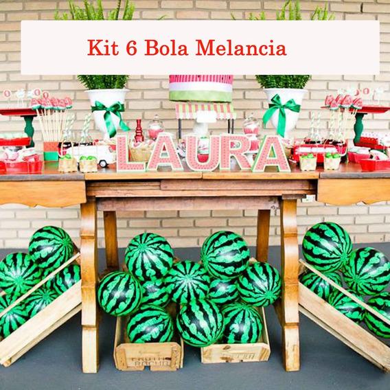 Kit 6 Bola De Melancia Vinil Inflável Decoração Festa