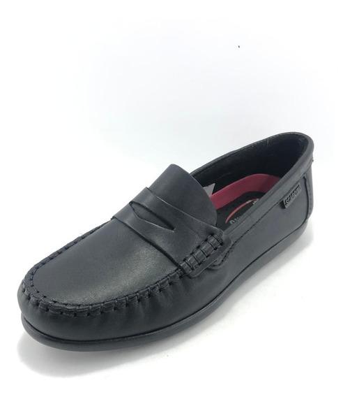 Zapato Náutico Colegial Escolar Negro - Scarpino