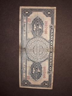 Billete Mexicano 1 Peso