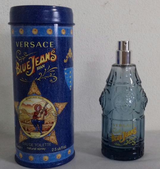 Lata & Frasco Vazio Do Perfume Blue Jeans / Versace