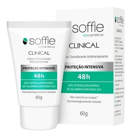 Soffie Clinical Desodorante Antitranspirante Creme 48h 60g