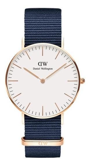 Reloj Unisex Daniel Wellington Classic 36 Bayswater Rg White