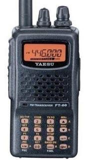 Yaesu Ft-60r De Doble Banda De Mano 5w Vhf / Uhf Radioaficio