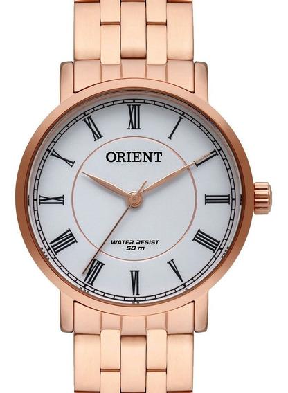 Relógio Orient Feminino Rose Gold Frss1031 B1rx