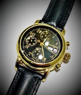 Reloj Mont Blanc Meisterstuck 4810 Chronograph Enchap. 18k